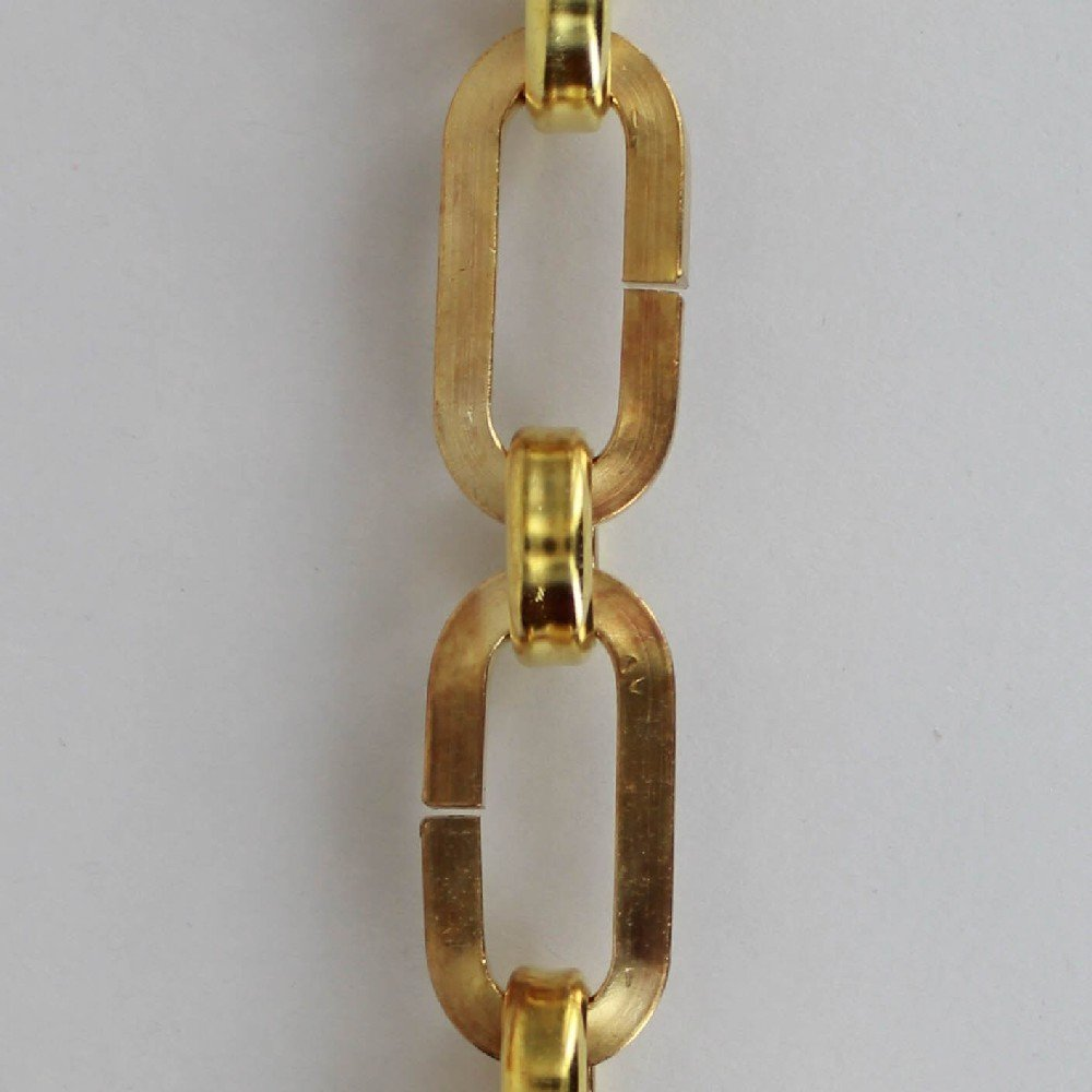UNFINISHED BRASS SQUARE WIRE OVAL CHAIN WITH ROUND LINK