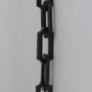 ANTIQUE BRONZE SOLID BRASS 3/16IN. CUT CORNER RECTANGLE STYLE CHAIN