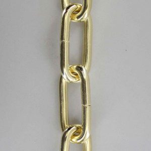 BRASS PLATED FINISH 1 GAUGE (5/16IN.) THICK STEEL CHAIN