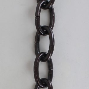 BRONZE PLATED STEEL OVAL 1/4IN. THICK CHAIN