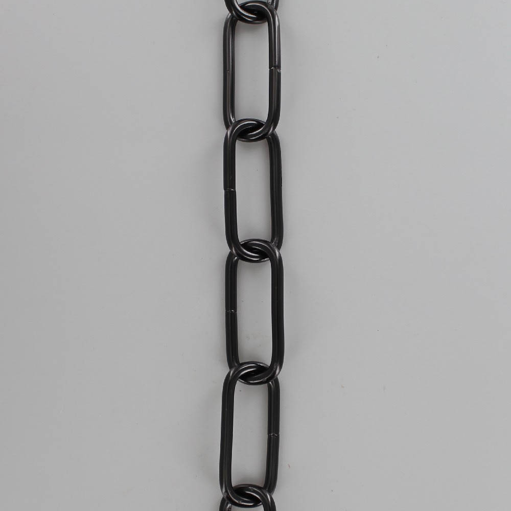 BLACK POWDER COATED STEEL LONG OVAL 3/16IN. THICK CHAIN