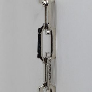POLISHED NICKEL FINISH SOLID BRASS 3/16IN. CUT CORNER RECTANGLE STYLE CHAIN