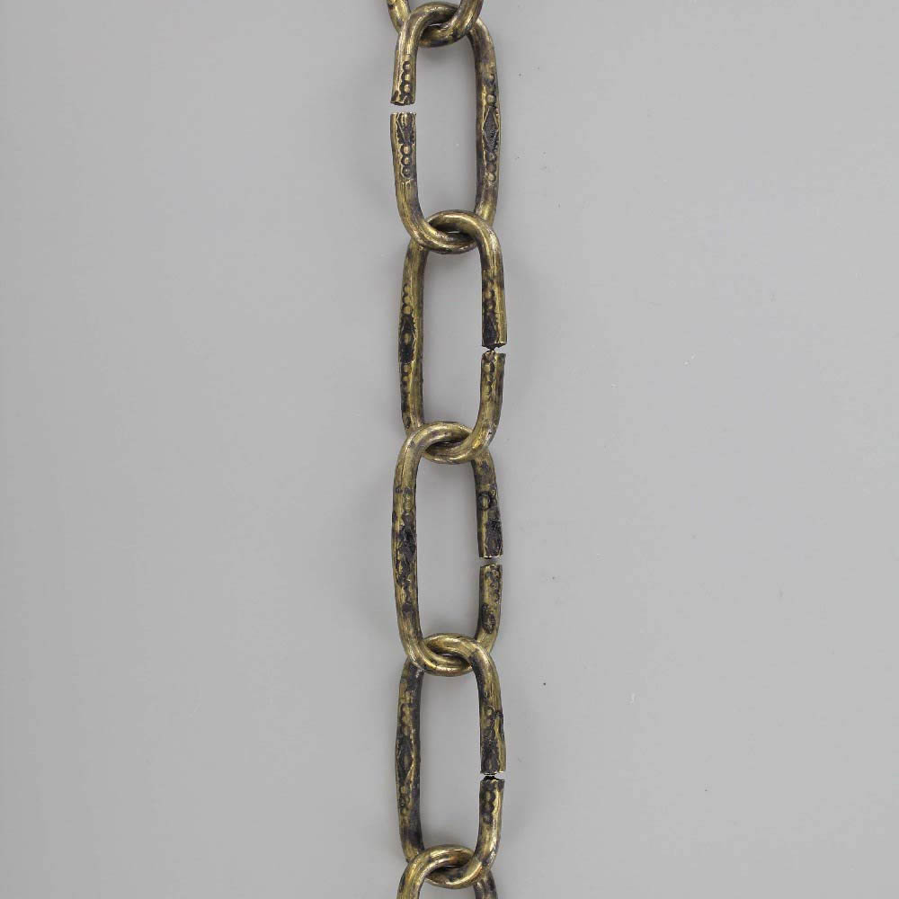 BRASS PLATED FINISH STEEL HEAVY DUTY 3/16IN. SPANISH STYLE CHAIN
